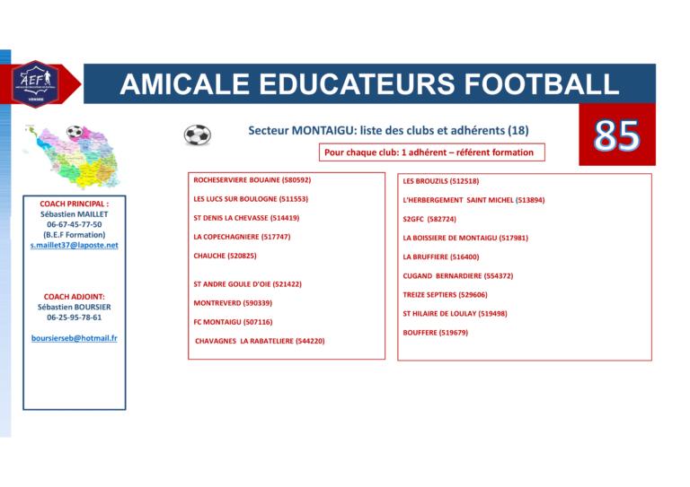 Clubs par secteur AEF 85-2